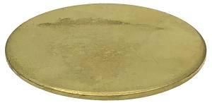 "Brass Wheel Blank Disc   2"" Diameter x .125"" Thick - Image 1"