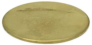 "Brass Wheel Blank Disc   3"" Diameter x .049"" Thick"