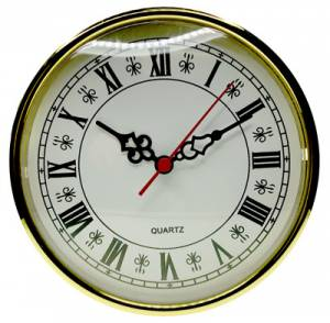 "160mm (6-1/4"") Roman White Dial Fit-Up - Image 1"