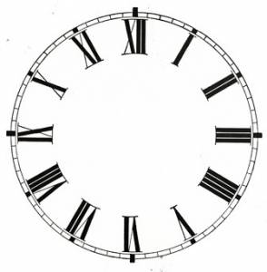 "3-3/4"" High Gloss White Roman Paper Dial - Image 1"