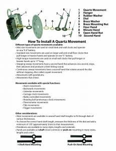 Instructions To Install A Quartz Movement