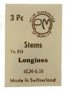 Longines 4LN - 5.16 Watch Stems   3-Pack