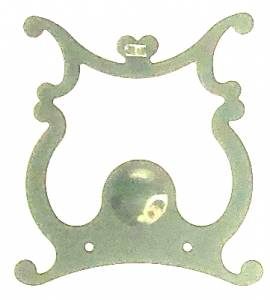 Scrolled Lyre Pendulum Plate   66mm Wide x 76mm Tall - Image 1