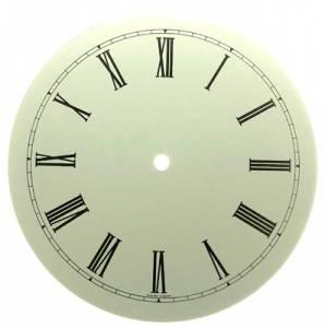 """7-15/16"""" White Roman Round Aluminum Dial - Image 1"""
