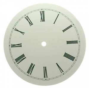 "7"" Round White Roman Aluminum Dial"