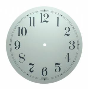 """11-3/8"""" Round White Arabic Aluminum Dial"""