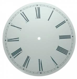 "11-3/8"" Round White Roman Aluminum Dial"
