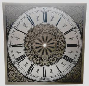 """11"""" Square Roman Etched Brass Dial"""