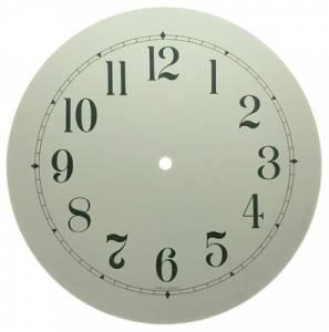 """10"""" White Arabic Aluminum Round Dial - Image 1"""