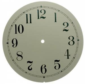 """10"""" Ivory Arabic Aluminum Round Dial"""
