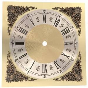 """7-13/16"""" Fancy Square Roman Dial with 6-1/8"""" Time Track"""