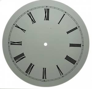 "11"" White Roman Aluminum Round Dial"