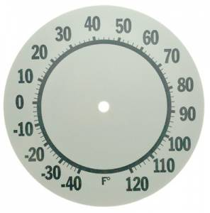 """7-7/8"""" Aluminum Thermometer Dial - Image 1"""