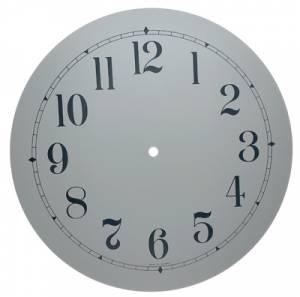 """12"""" White Arabic Aluminum Dial"""