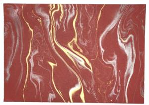 Marble Effect Paper - Red Background