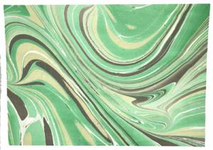 Marble Effect Paper - Green Background