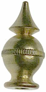 "Brass Finial 23/32"" x 3/8"" For Kundo Std. (Top Spire) - Image 1"