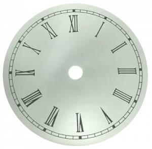"""4-1/2"""" Round Aluminum White Roman Dial - Image 1"""