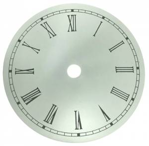 "4-1/2"" Round Aluminum White Roman Dial"
