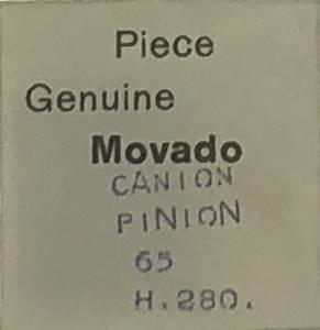 Movado Calibre 65   #240 Cannon Pinion (2.8mm H) - Image 1