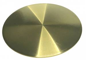 "3-1/2"" Brushed Brass Quartz Pendulum Bob - Image 1"