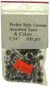 Pocket Watch Crown 100-Piece Assortment - Image 1