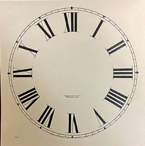 """SHIPLEY-12 - 11-1/2"""" New Haven Roman Dial-Ivory - Image 1"""