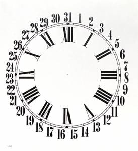 """BEDCO-12 - 11"""" Sessions Calendar Dial-White - Image 1"""