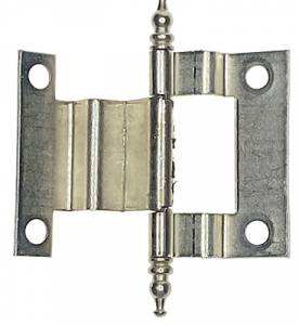 """3"""" Brushed Nickel Cabinet Door Hinge - Image 1"""