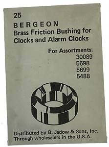 B-35 Brass Bergeon Bushing  25-Piece Pack - Image 1