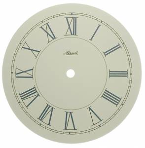 """Hermle Ivory Roman 6-13/16"""" Dial With 5-7/8"""" Time Track - Image 1"""