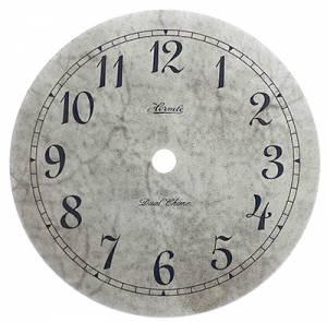 """Hermle 5-3/8"""" Mottled Gray Quartz Arabic Dial - Image 1"""