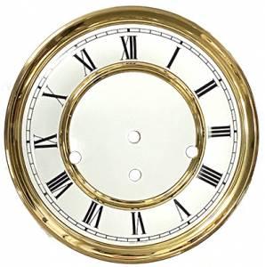 "7-7/8"" Hermle Regulator Roman Dial, Pan, Bezel Assembly - Image 1"