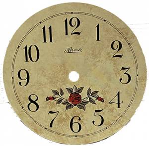"""Hermle Flowered 5-3/8"""" Ivory Arabic Dial - Image 1"""