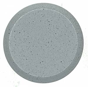 "Hermle 2-3/4"" (70mm) Speckled White Quartz Pendulum Bob - Image 1"