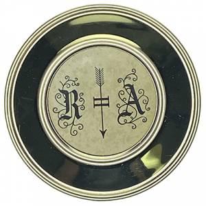 """Hermle 3-1/8"""" (80mm) Antiqued Quartz R & A Pendulum Bob - Image 1"""