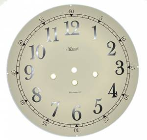 """Hermle 10-1/8"""" (257mm) Ivory Arabic Westminster Dial - Image 1"""