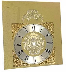 "Hermle 7-5/8"" W x 8-1/2"" T Fancy Brass Roman Dial - Image 1"