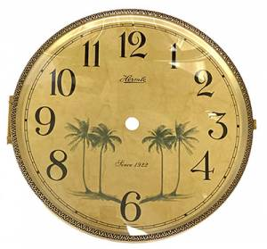 "Hermle 7"" Ivory Arabic Palm Tree Dial, Bezel & Convex Glass Assembly - Image 1"