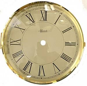 "Hermle 5-3/4"" Roman Ivory Dial, Bezel, & Convex Glass Assembly - Image 1"