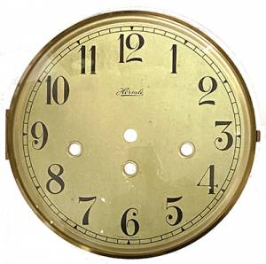 """Hermle Antiqued Ivory 7"""" Dial, Bezel & Convex Glass Assembly - Image 1"""