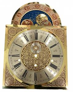 Hermle Tall Case Moon Phase Arabic Brass Dial - Image 1
