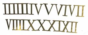 Milled Brass Roman Numeral Set - 30mm - Image 1
