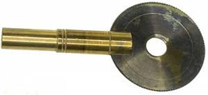 Single End Old Style 4.4mm Carriage Clock Key - Image 1