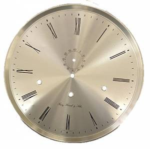 """Hermle 11-13/16"""" (300mm) Brushed Silver Roman Dial/Bezel - Image 1"""