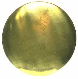 70mm Brass Pendulum Bob With 4mm Rear Slot - Image 1