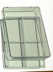 4-Compartment Plastic Storage Box - Image 1