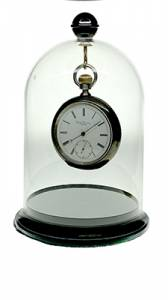 """CLASSICS-85 - Acrylic Watch Display Dome With Base 4"""" X 5-1/2"""" - Image 1"""