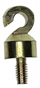 """M4 x 5/16"""" Brass Weight Hook - Image 1"""