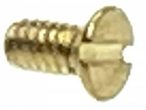"#2-56 x 3/16"" Slotted Flat Head Brass Machine Screw - 12 pack - Image 1"